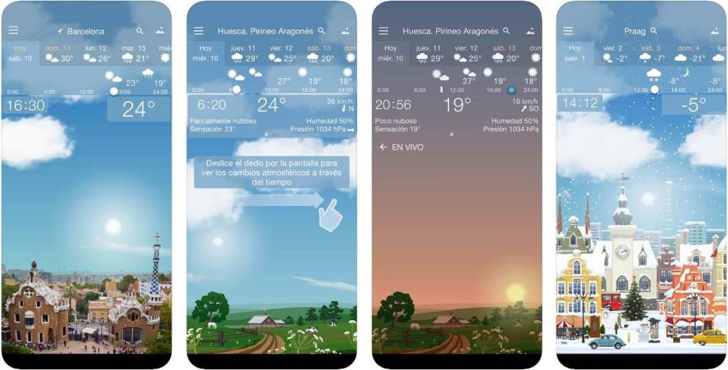 App del tiempo para iOS