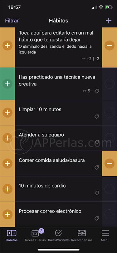 habitica app de motivación hábitos iphone 2