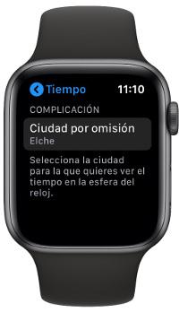 Tiempo en el Apple Watch 1