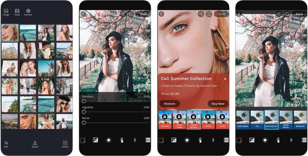 App de filtros fotográficos.