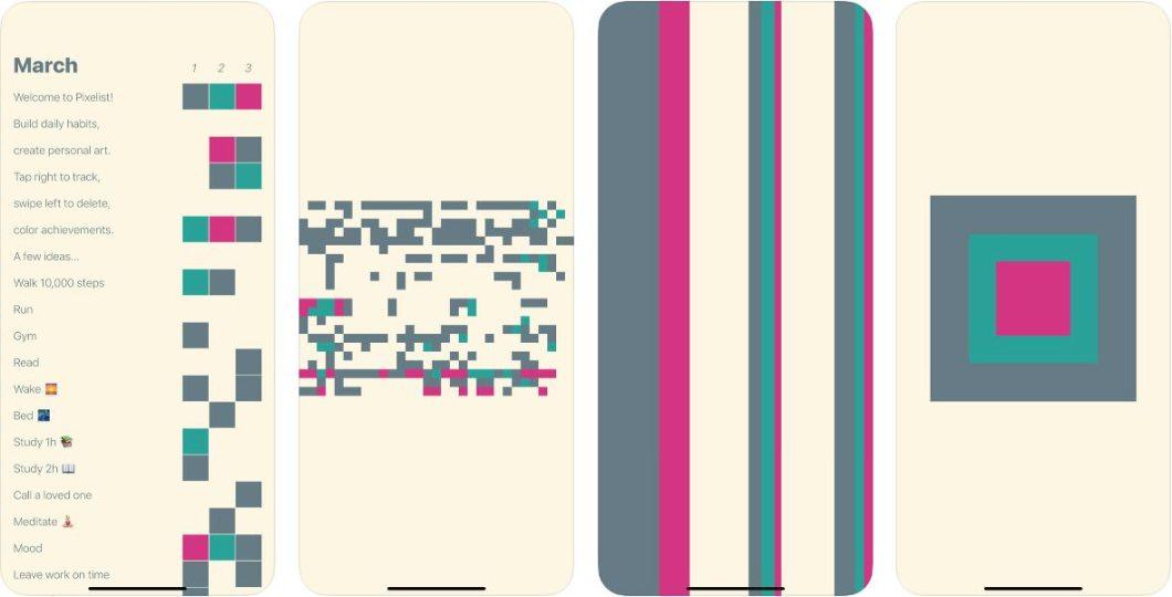 App de productividad Pixelist