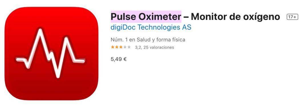 App Pulse Oximeter