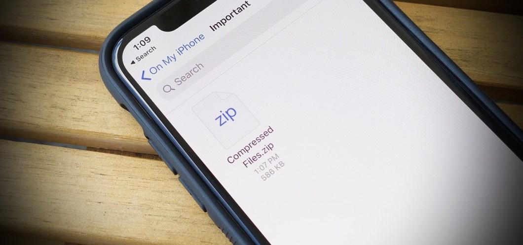 descomprimir archivos en el iPhone