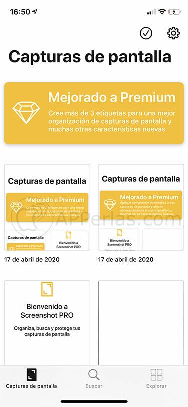 organizar capturas de pantalla organiza capturas de pantalla screenshot pro app 4
