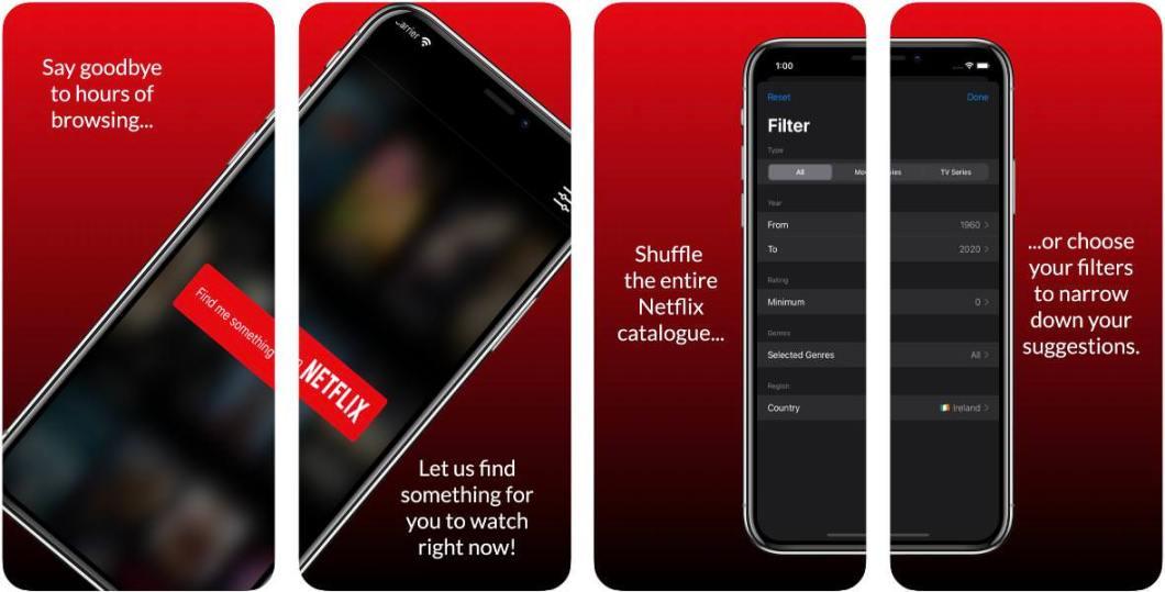 Buscador de series y películas en Netflix