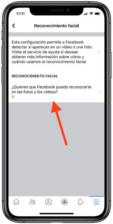 reconocimiento facial de Facebook 2