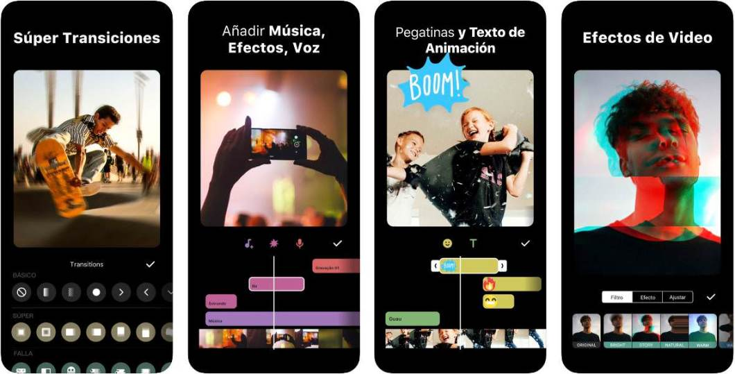 Capturas de la app InShot