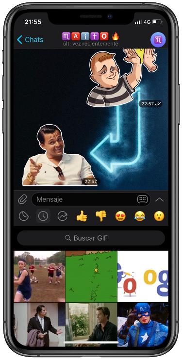 los GIF en Telegram 2