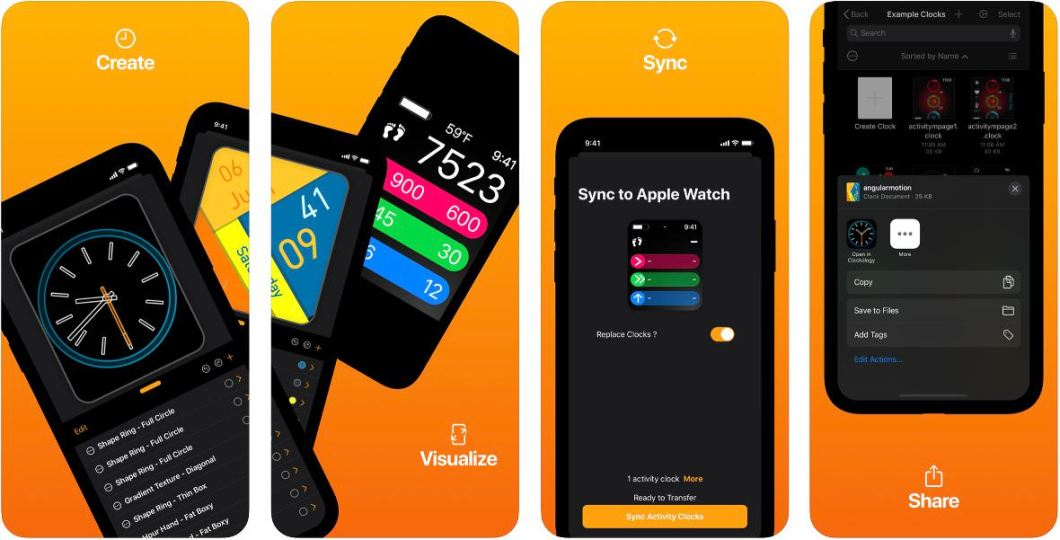 App de esferas para Apple Watch