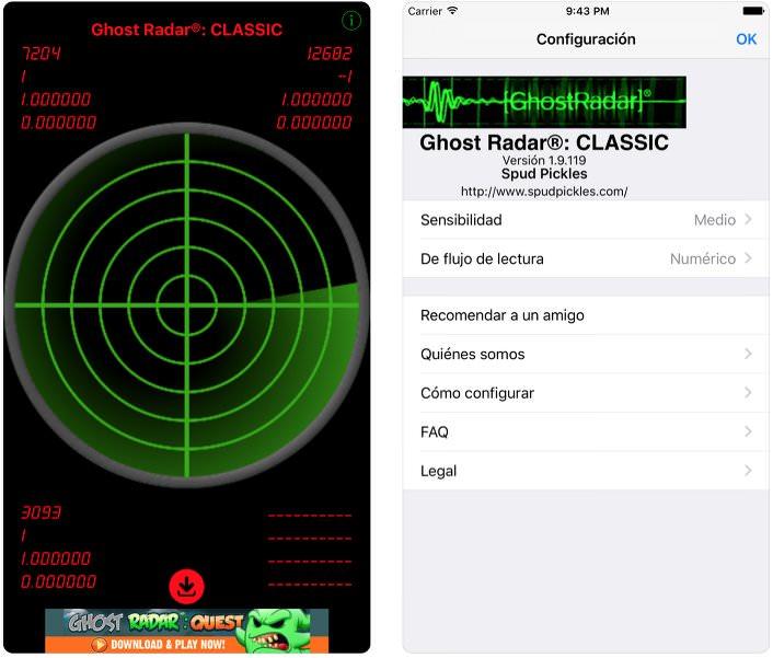 App detecta fantasmas