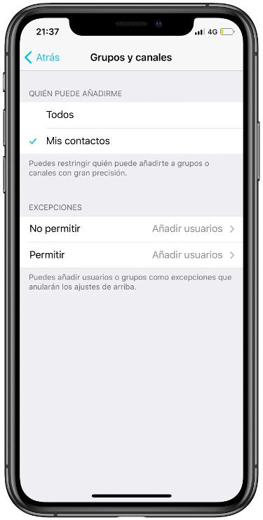 un grupo de Telegram 2