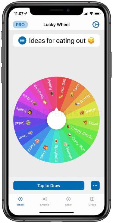 Pantalla principal de PickMe, la app para decidir