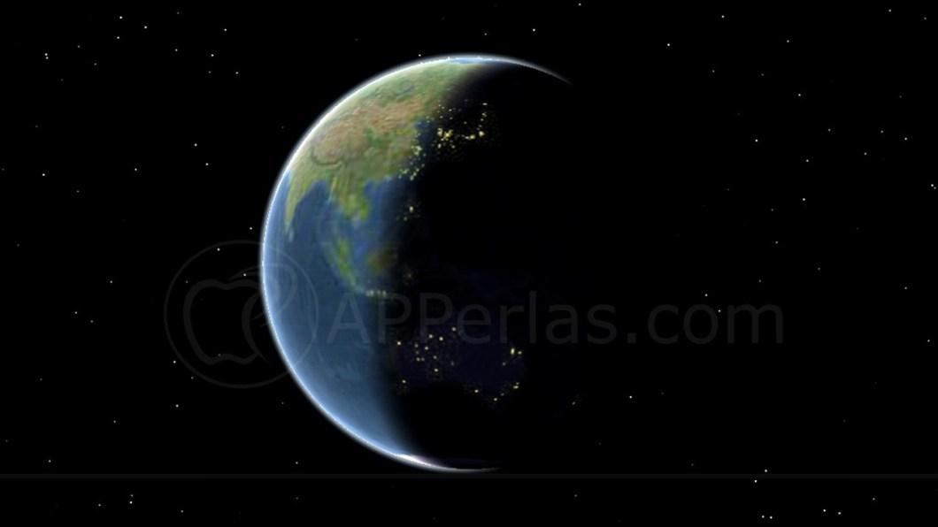 Rotación de la tierra en tiempo real