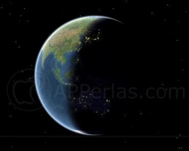 Mapas de Apple actualiza la rotación de la tierra en tiempo real