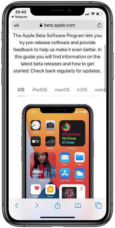 instalar la beta pública de WatchOS 7 1