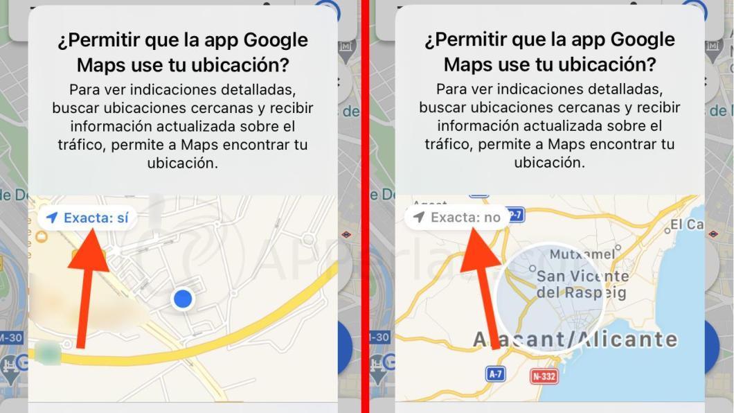 Permiso de ubicación aproximada o exacta en iOS 14