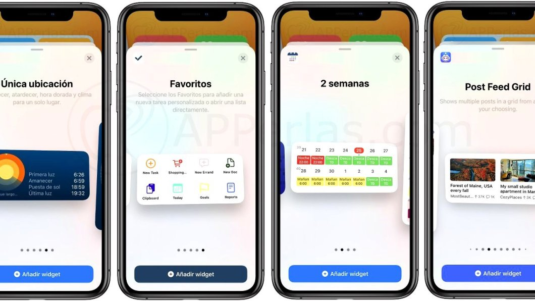TOP APPS con Widgets para iPhone