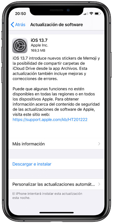 iOS 13.7 1