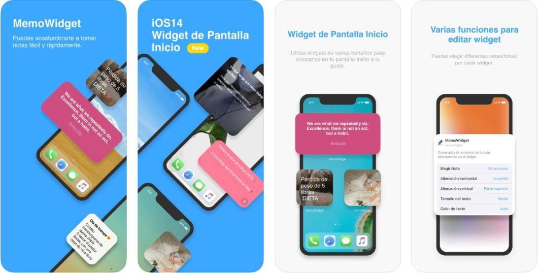App de notas para la pantalla de tu iPhone