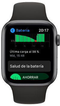 carga optimizada del Apple Watch 1