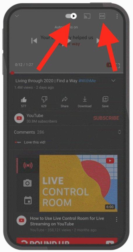 Nuevos botones en Youtube