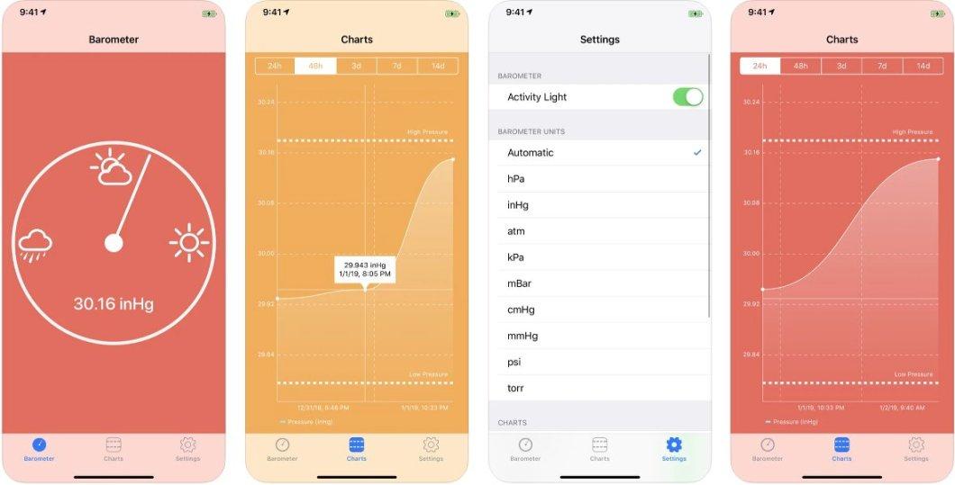 Barómetro digital para iPhone