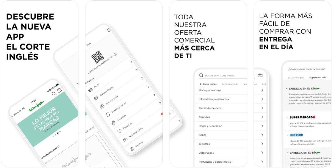 Nueva app de El Corte Inglés