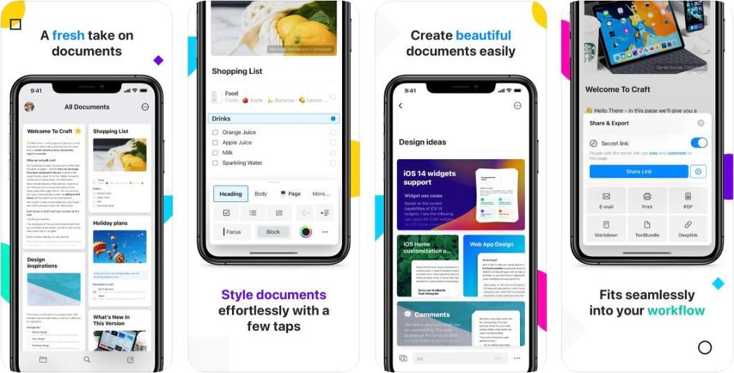 App de documentos y notas CRAFT