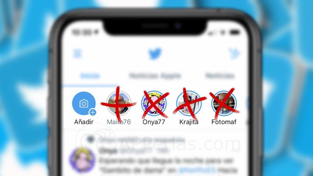 Eliminar las historias de Twitter