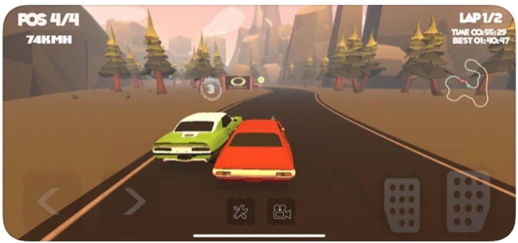 MMCRacing es un juego de coches para iPhone