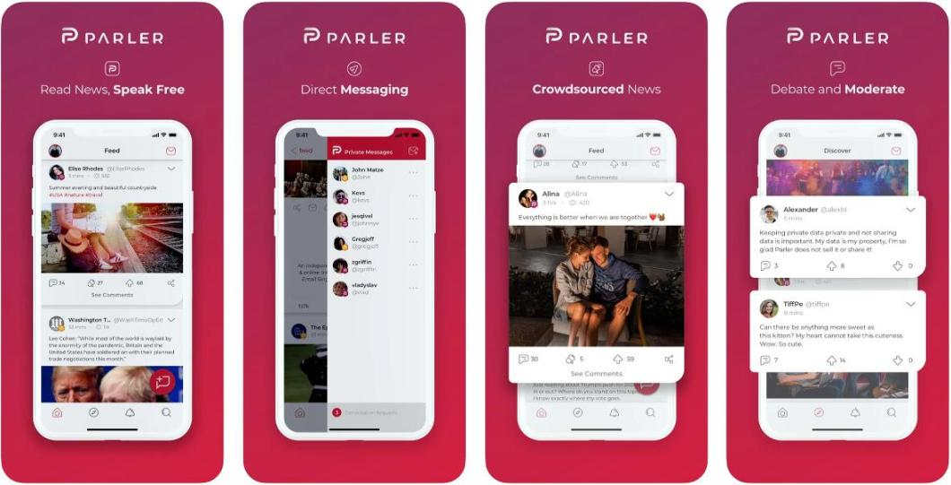 Parler social network