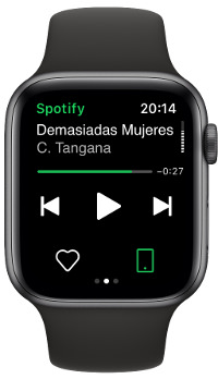 usar Spotify en el Apple Watch 1