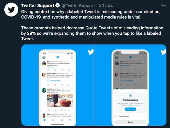 twitter informar bulo noticia falsa me gusta