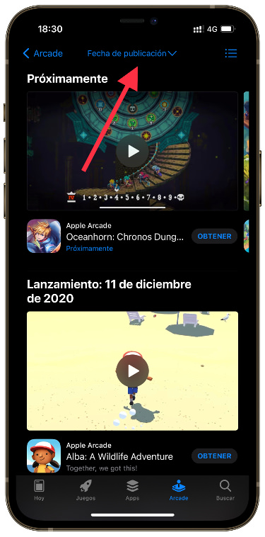 search filters in Apple Arcade 2