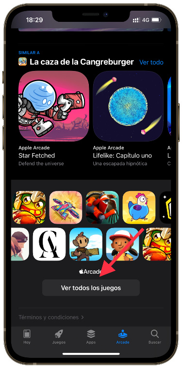 search filters in Apple Arcade 1