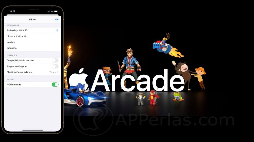 filtros de búsqueda en Apple Arcade