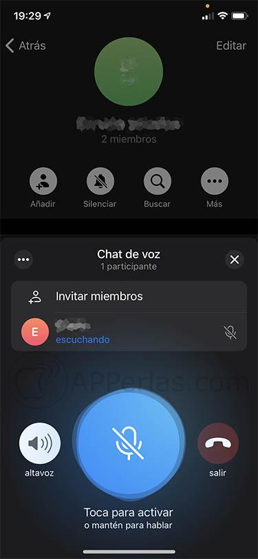 nueva actualizacion de telegram chats de voz 1