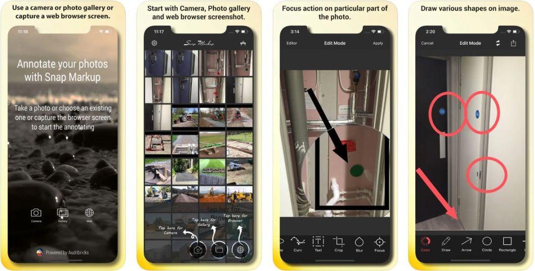 App de anotaciones en fotografías