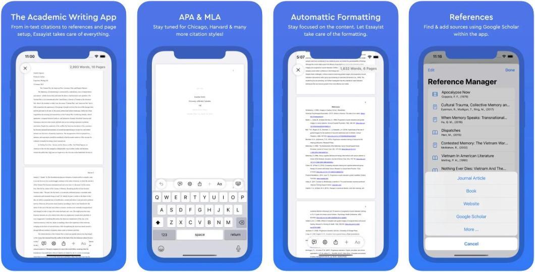 App para escribir ensayos