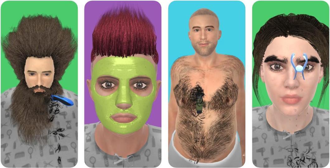 Simulador de peluquería para iPhone