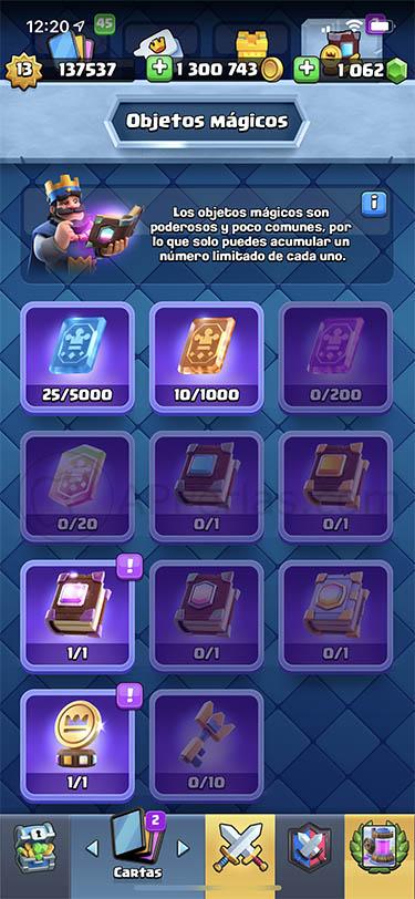la actualización de clash royale objetos mágicos 2