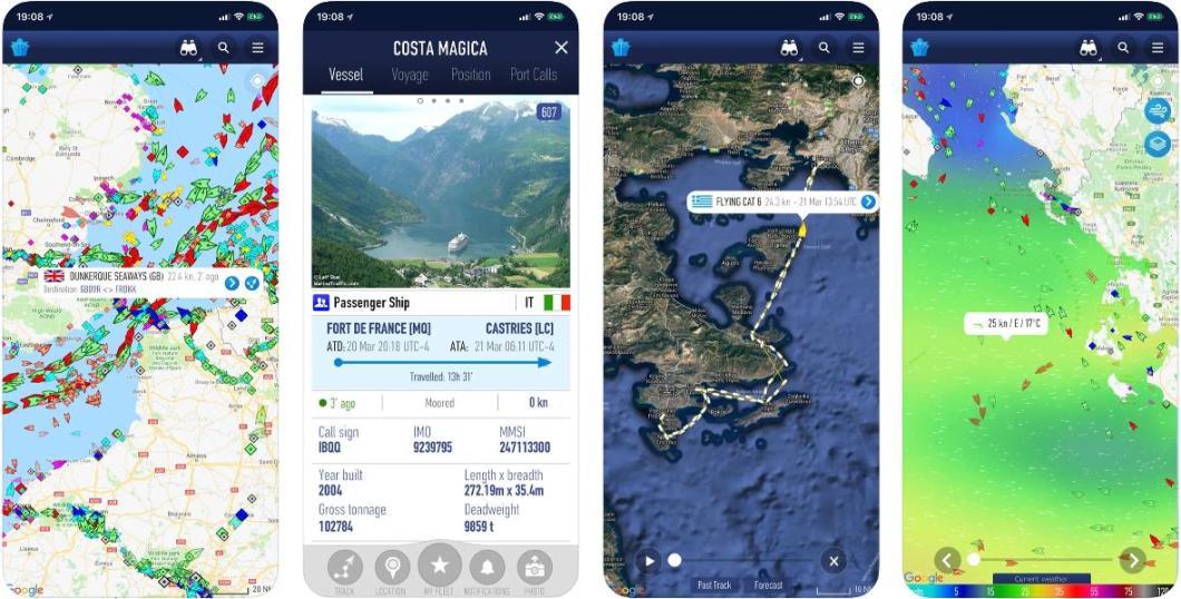 App que muestra el tráfico marino