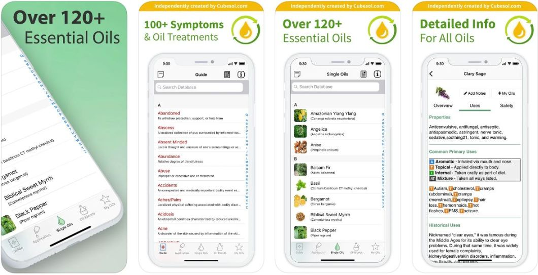 App de aceites esenciales