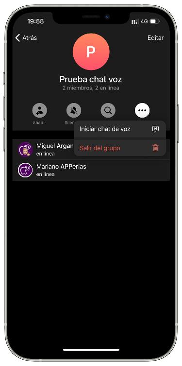 voice group in Telegram 1