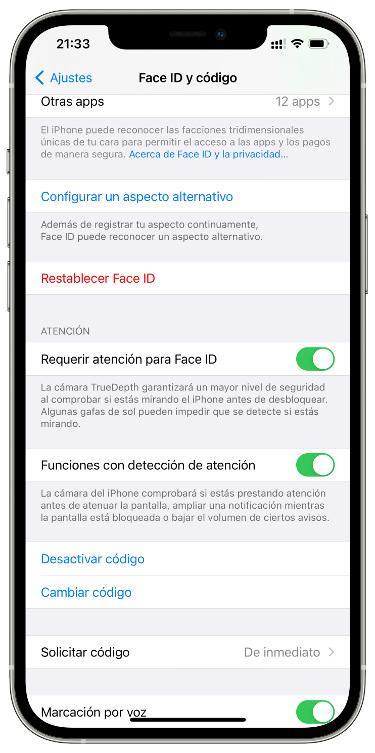 Face ID en el iPhone 1