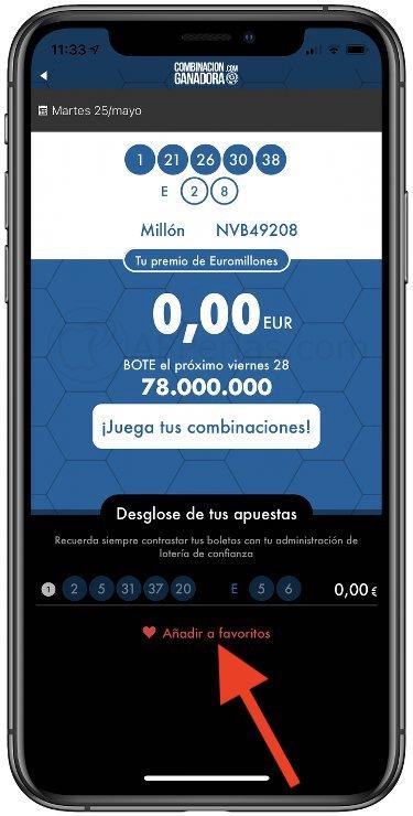 App CG: Resultados de Lotería