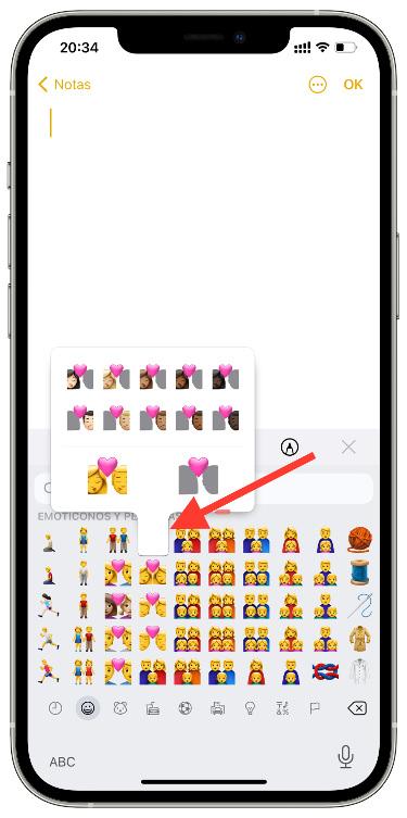 color del emoji de parejas 1