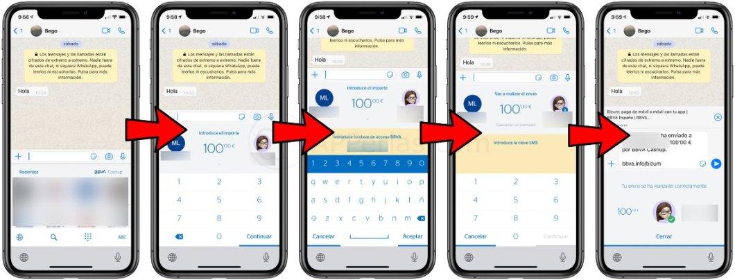Pasos para enviar dinero por Whatsapp o cualquier otra app