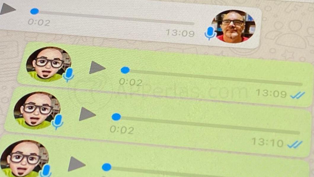 Doble check azul en los audios de WhatsApp