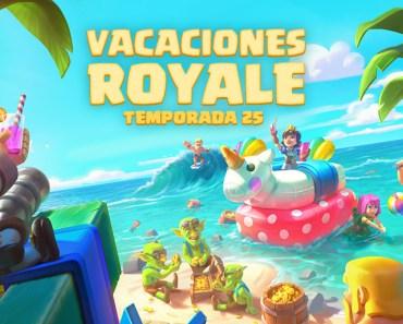 Llegan las vacaciones con la temporada 25 de Clash Royale